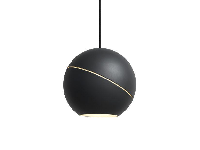 Sliced Sphere donkergrijs van Frederik Roijé