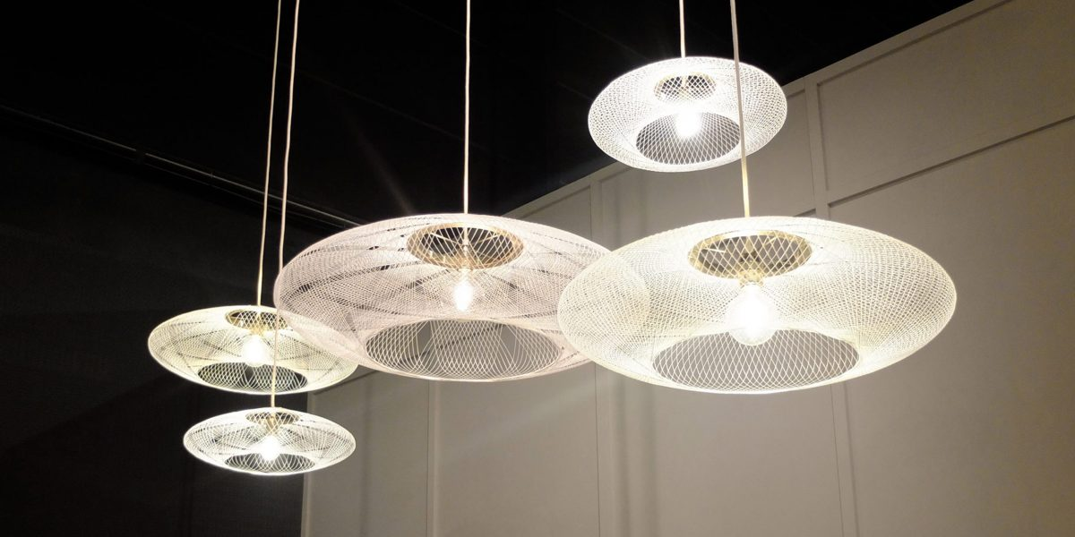 UFO lamp 3 sizes white pendant lamp by Atelier Robotiq – gimmii onlineshop