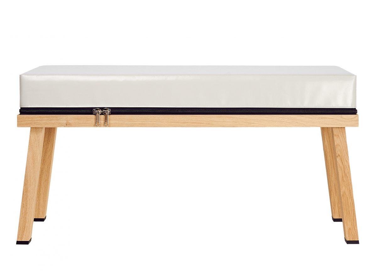 Visser&Meijwaard Truecolors Bench Light Grey Dutch Design Meubels Exclusief Bankje