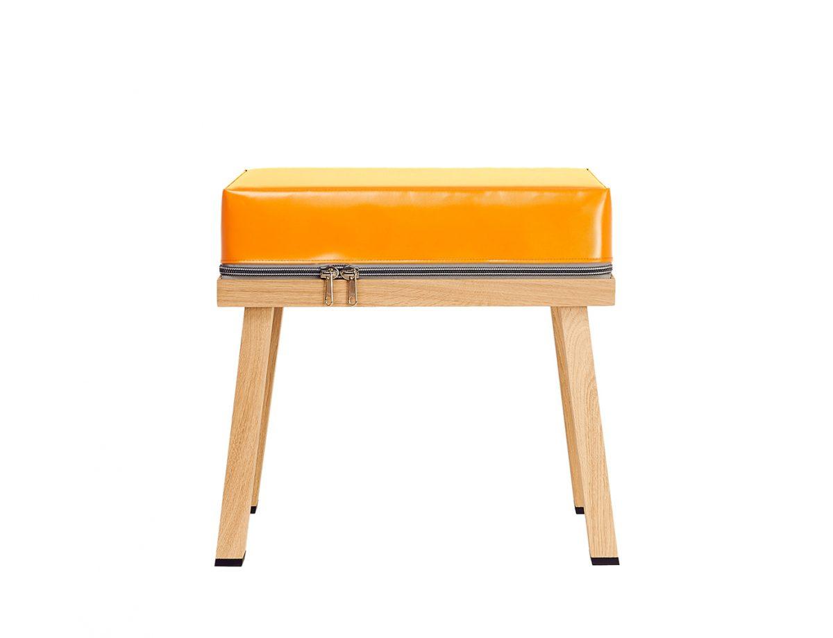 Visser&Meijwaard Stool Orange Dutch Design Meubels Exclusief Webshop