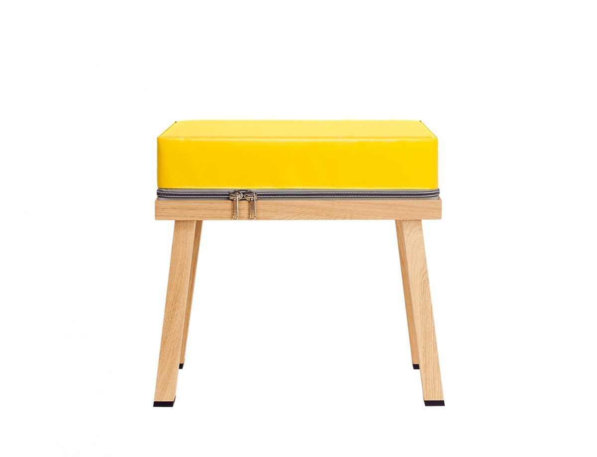 Visser&Meijwaard Stool Yellow Geel Dutch Design Kruk
