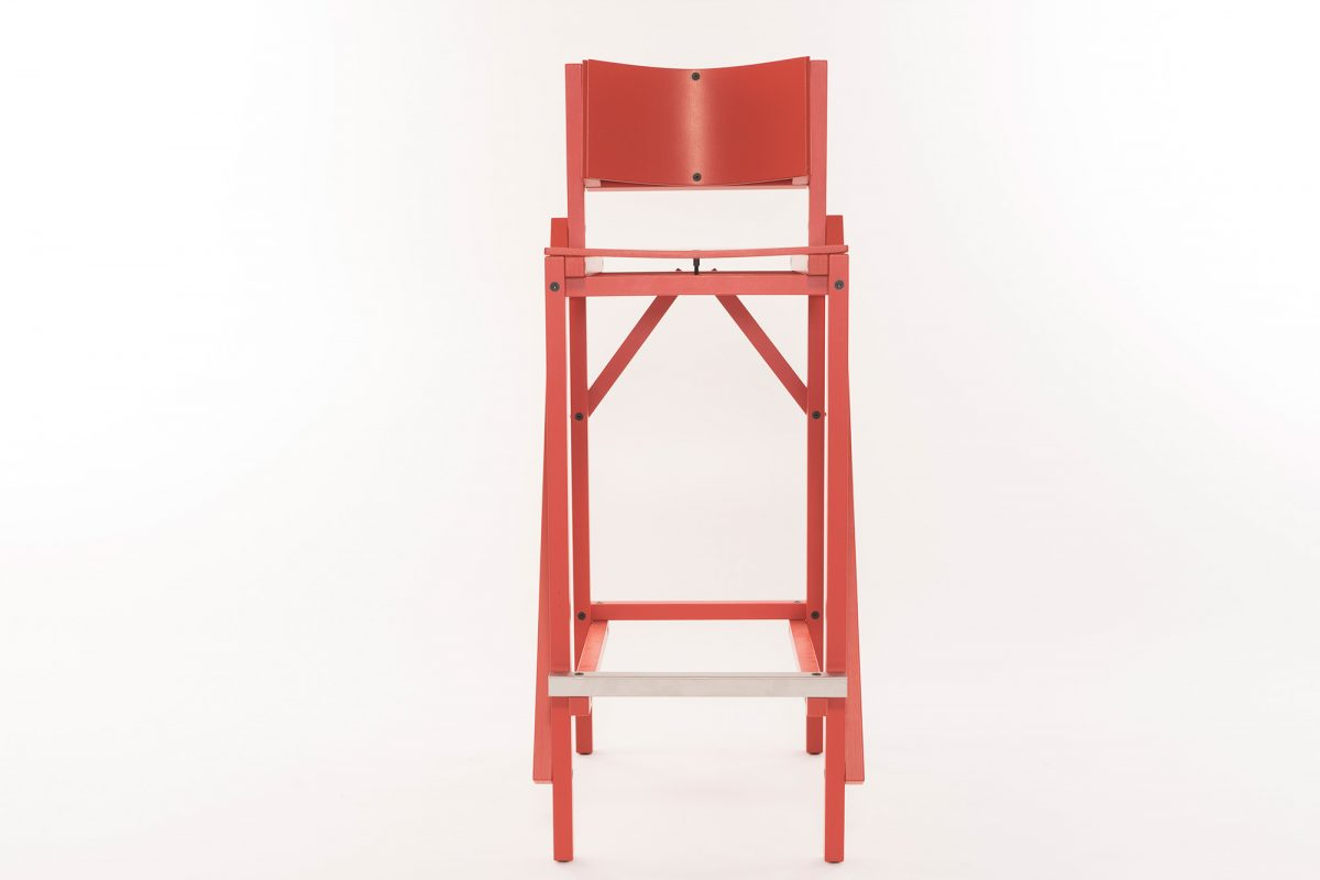 24mm Construct Barkruk Bar Stool Red Rood Arendgroosman