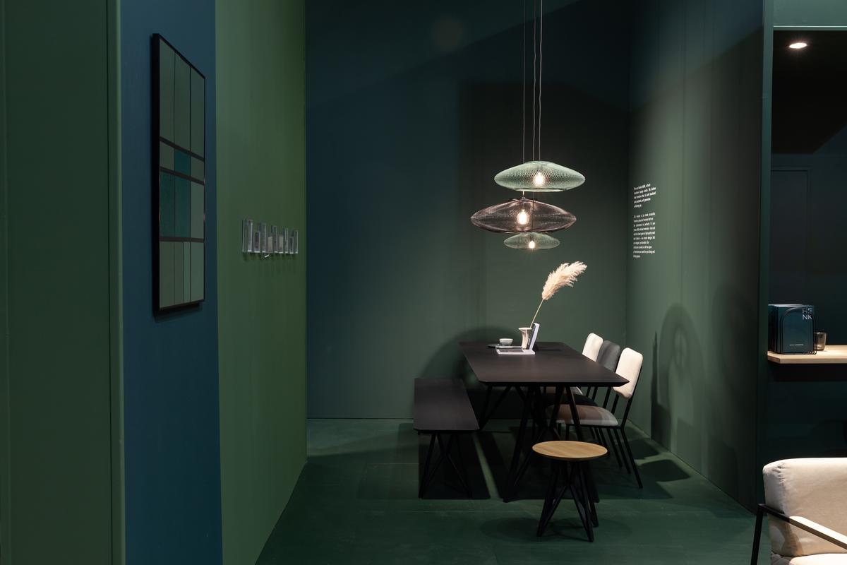 Atelier Robotiq Ufo Hanglamp Mos Groen 2x En Zwart Projectlamp Gimmii