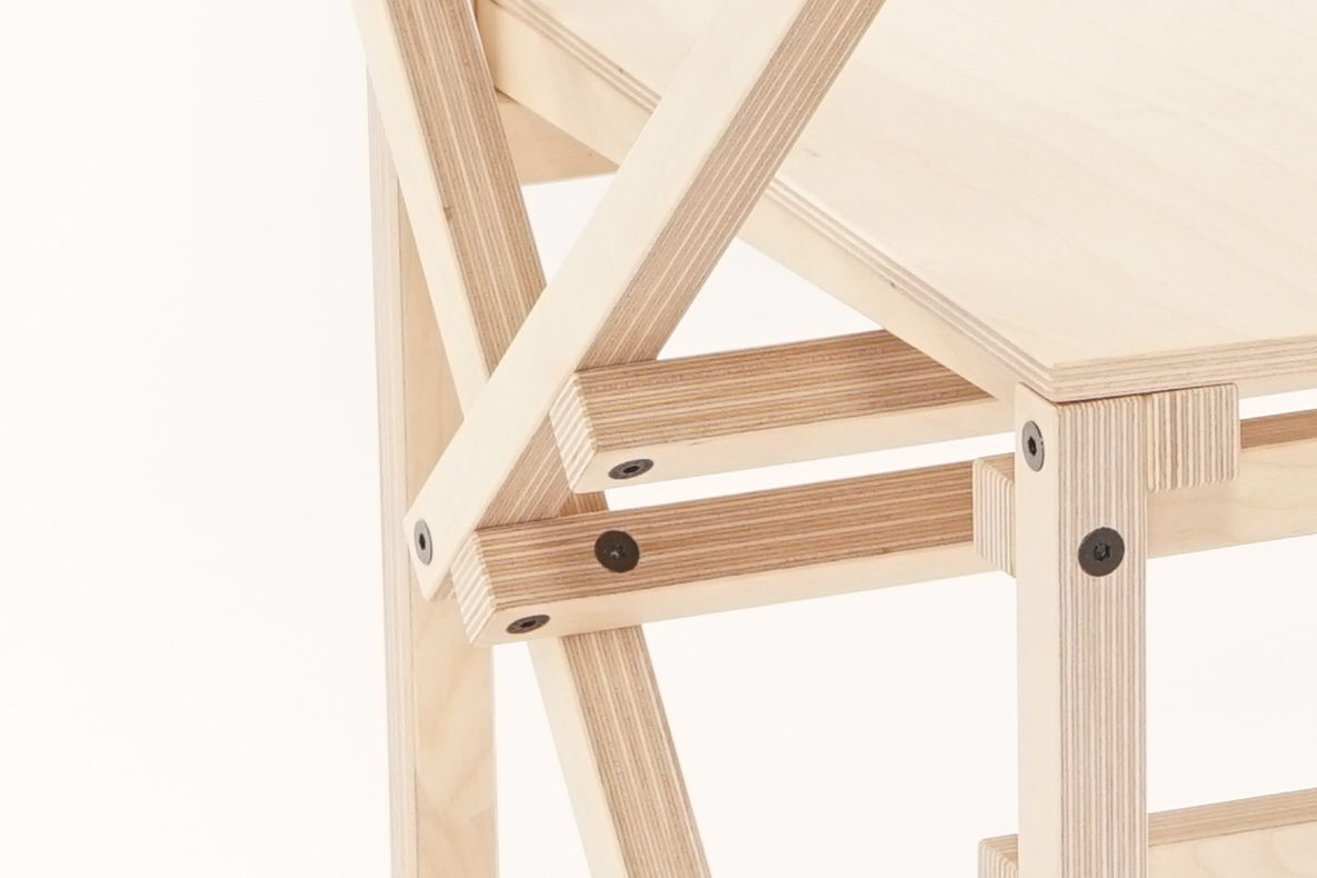 Construct Arm Chair Arend Groosman Hout Wood