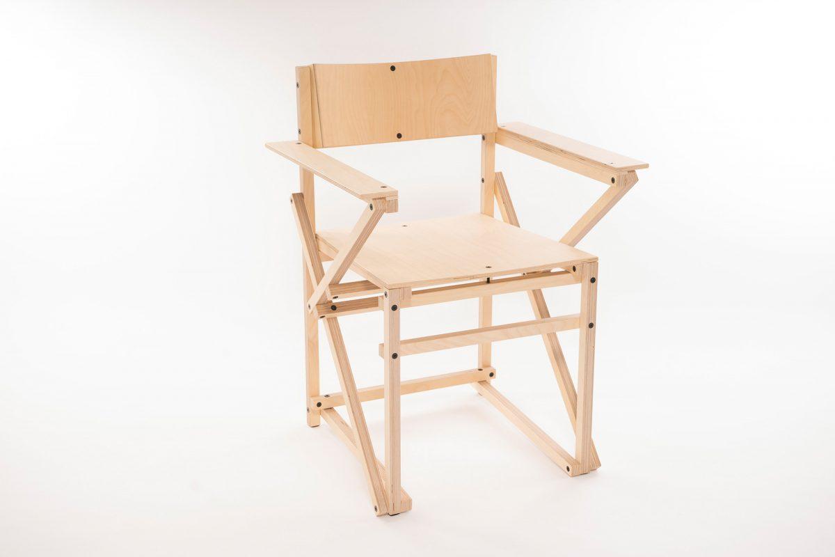Construct Arm Chair Birch Berken Hout Arend Groosman