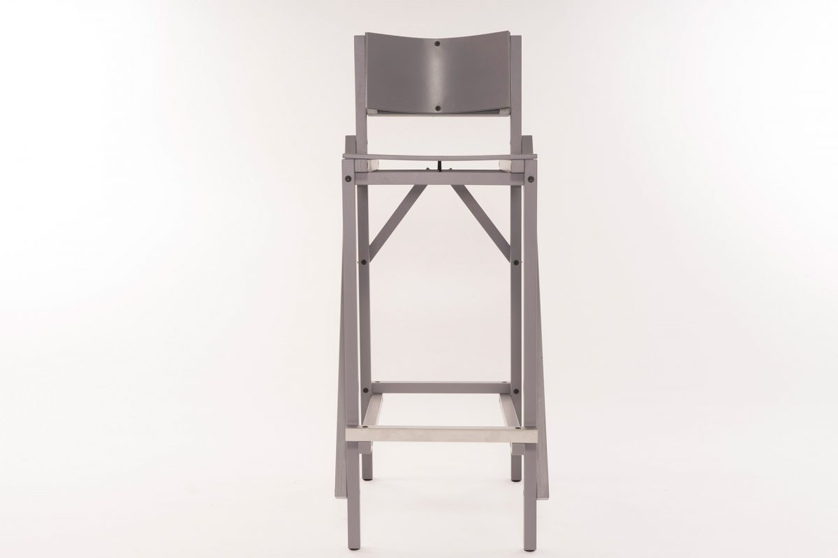 Construct Barkruk 24mm Bar Stool Grey Arend Groosman Dutchdesign
