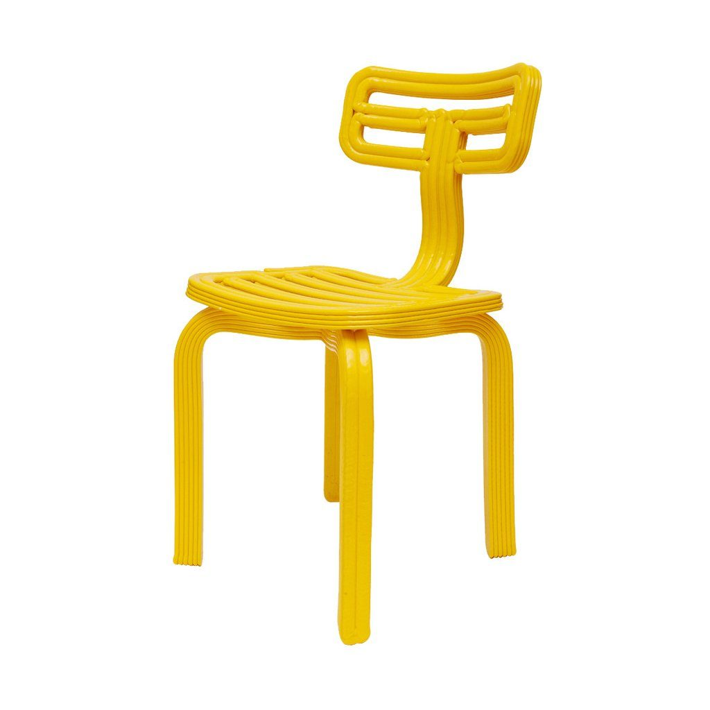 chubby chair dutch design stoel dirk vander kooij geel yellow