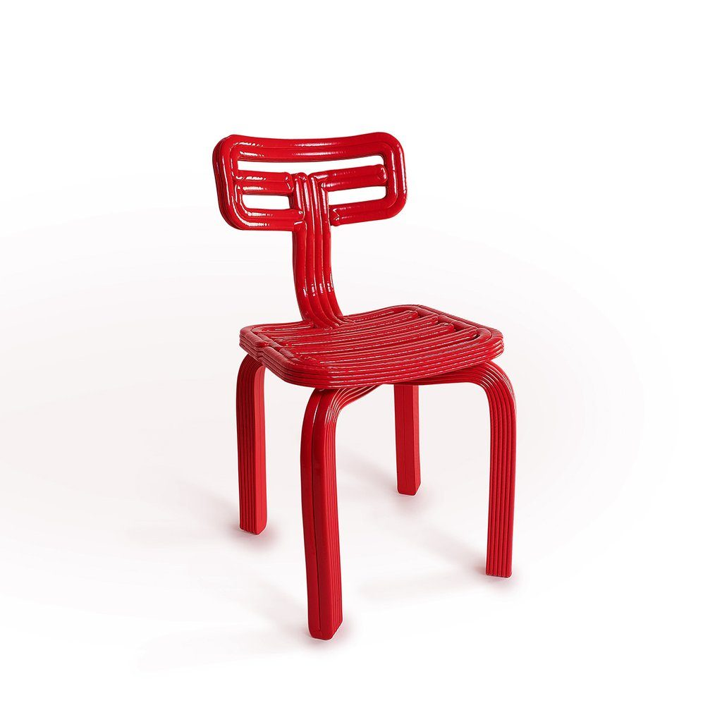 chubby chair dutch design stoel dirk vander kooij rood red