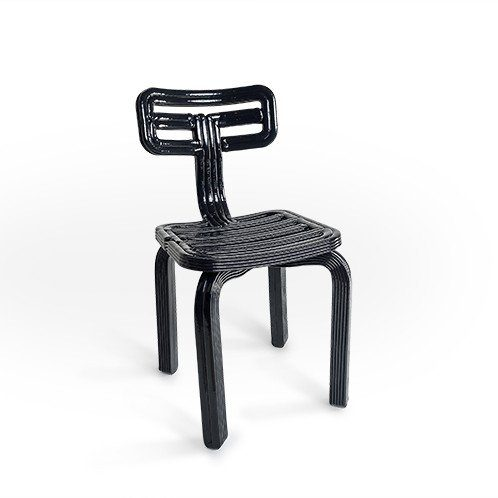 chubby chair dutch design stoel dirk vander kooij zwart black