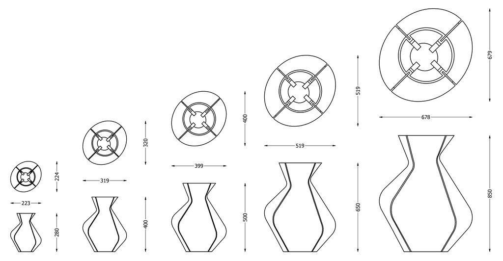 Dirk Vander Kooij Chancing Vases 3d Printing Vaas Afmetingen