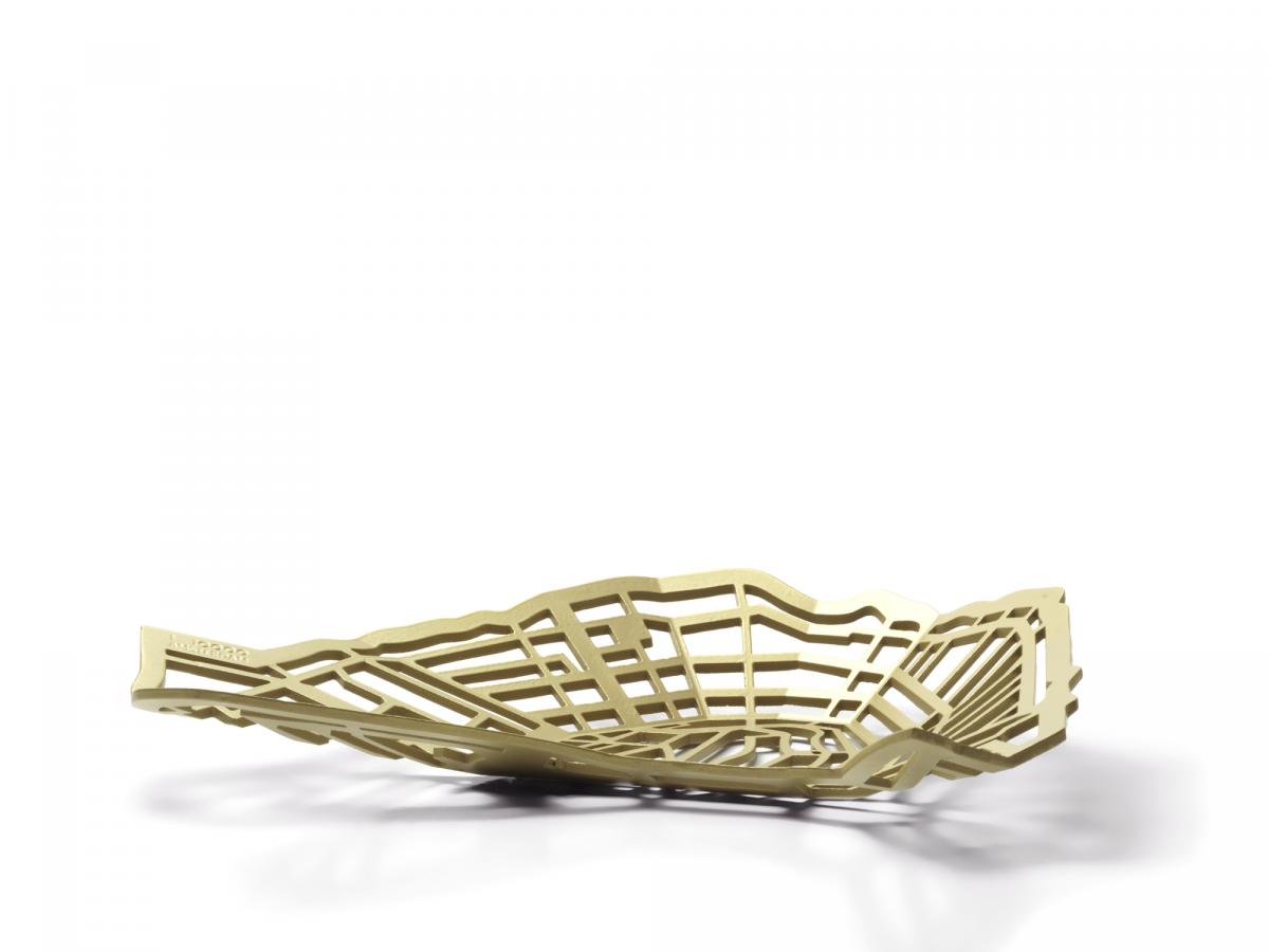 METROBOWL AMSTERDAM Gold Goud Schaal Exclusief Dutch Design