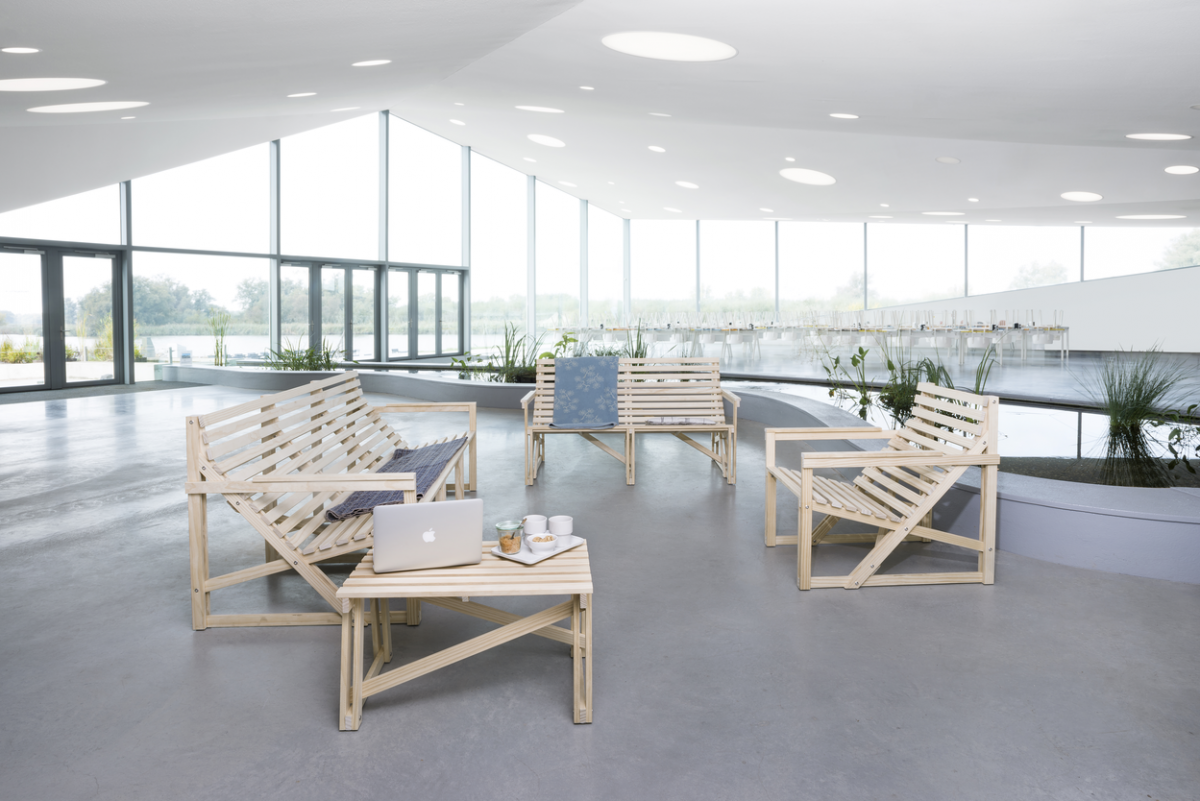Patioset Benches Styled Openbare Ruimte Weltevree