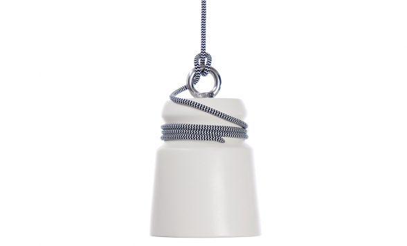Cable light hanglamp small wit met grijs snoer