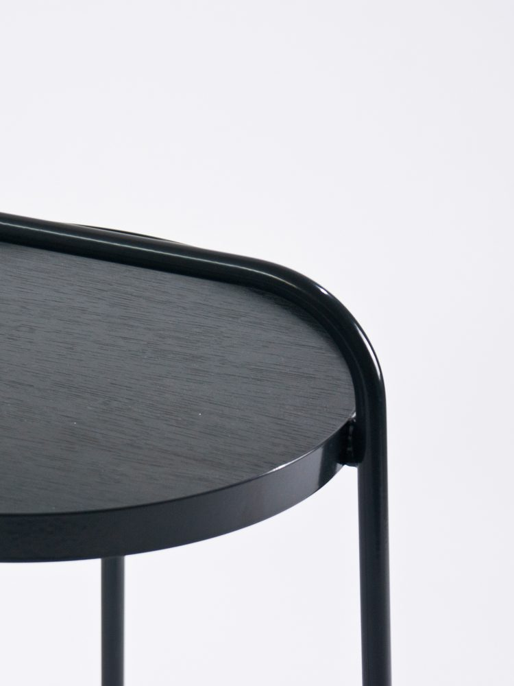 Patrick Hartog Dutch Design Bucket Side Table Detail Black Grey