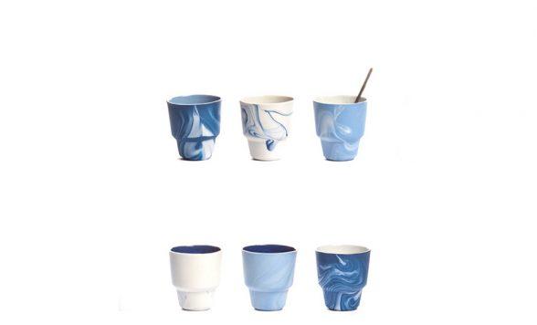 Pigments & Porcelain espressokopjes (6 stuks)