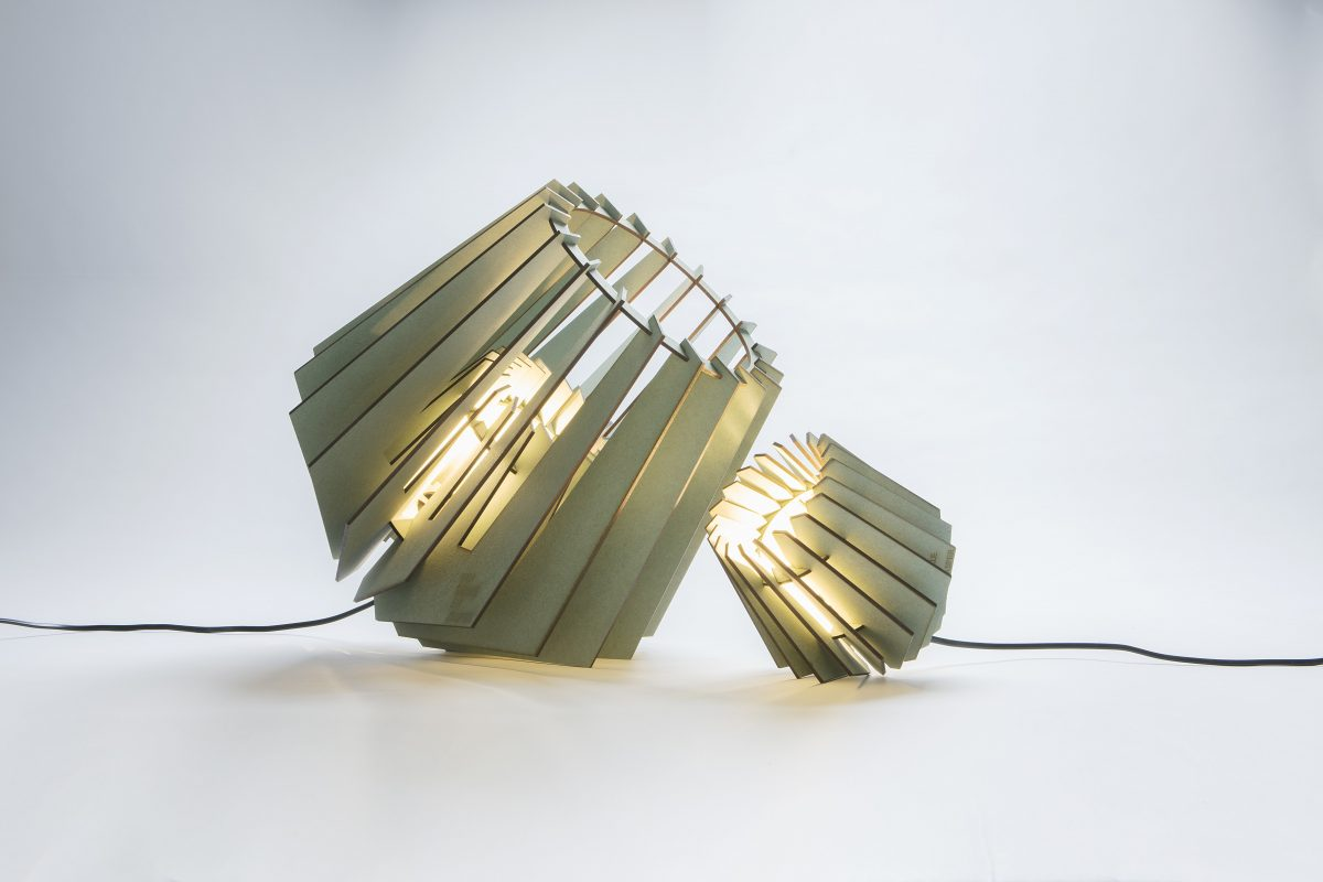 Van Tjalle En Jasper Spotnik Mini Spot Tafellamp Set Groen Dutch Design Verlichting