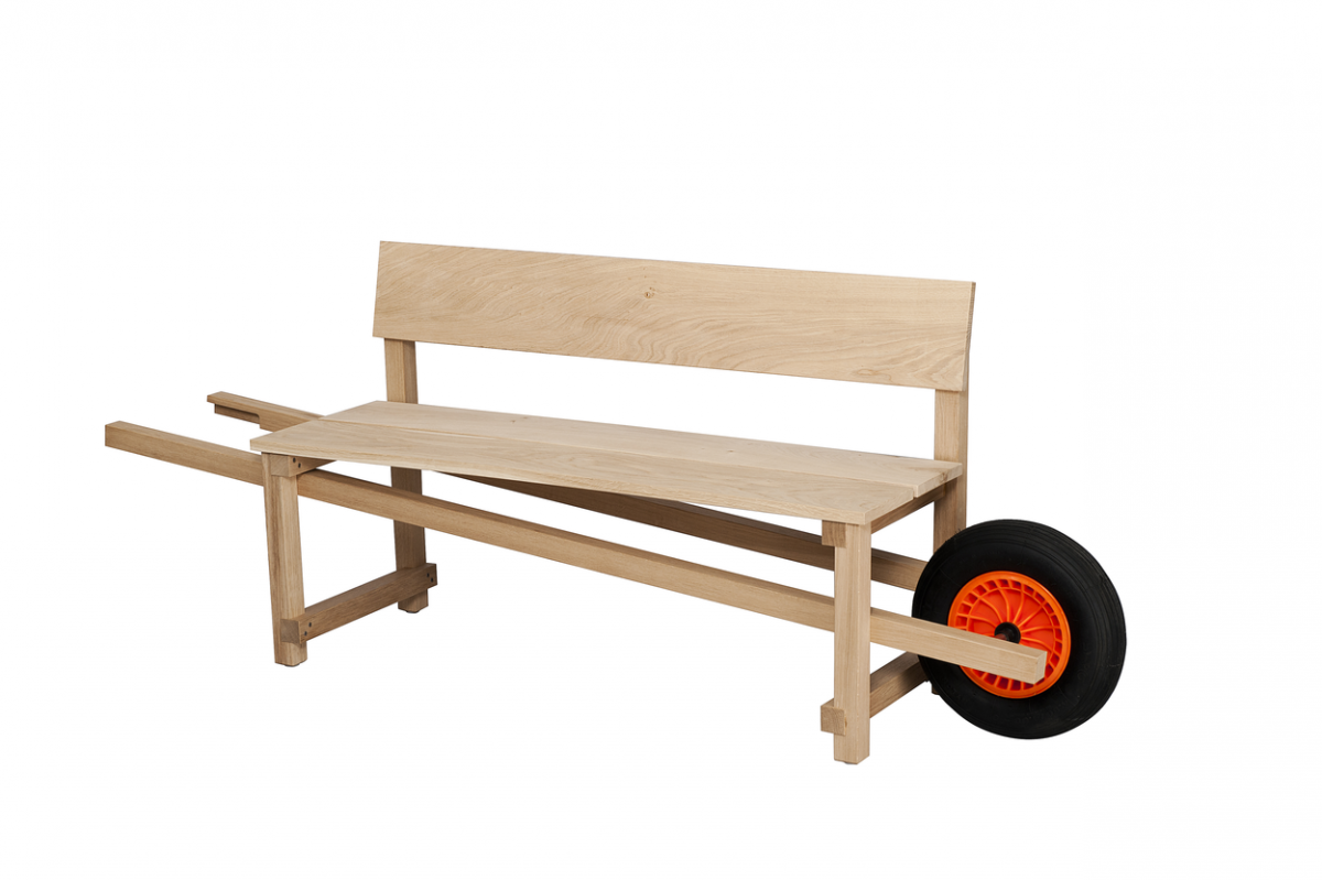 Weltevree Wheelbench Oak Eiken Mobiel Bankje Outdoor