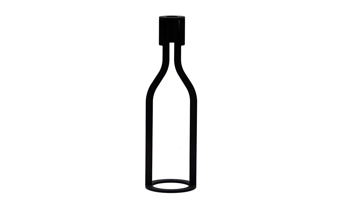 Wine Candle Holder Bottle Peter Van de Water Gimmii