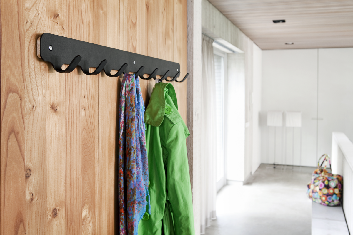 Hooks 8 Black Interior Design Functionals Coatrack Kapstok