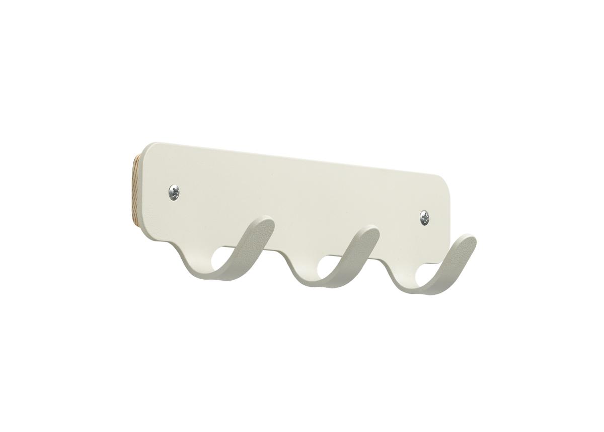 Kapstok Staal Hooks 3 White Wit Minimalisme