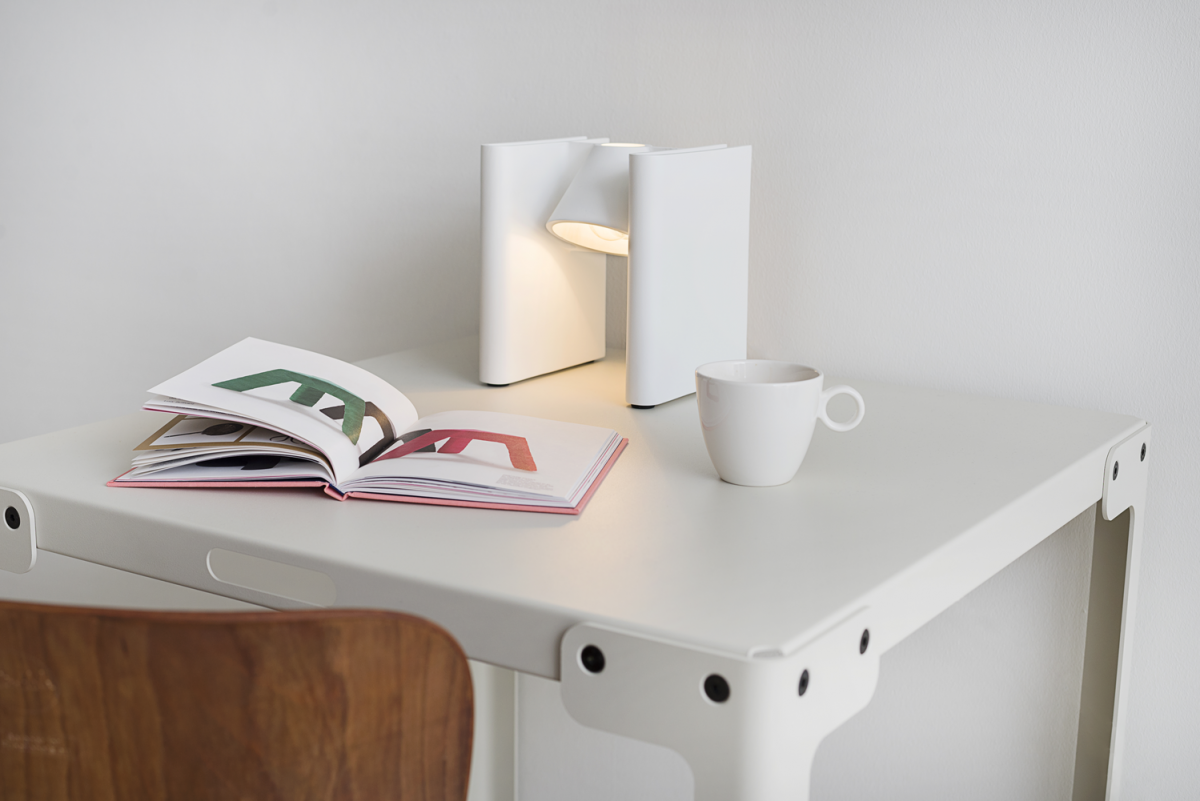 Lamp Mr Ed Wit White Functionals Boekensteun Gimmii Shop
