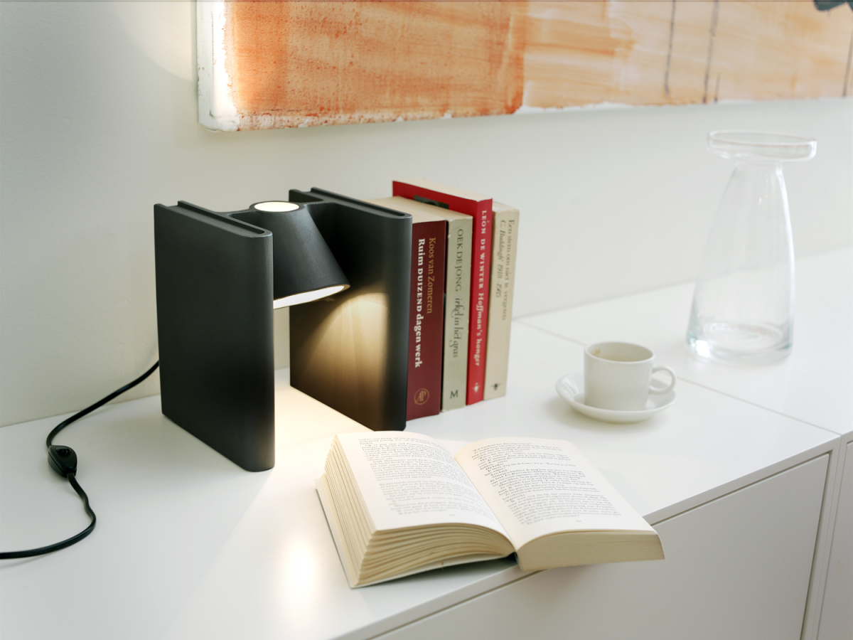 Mr Ed Zwart Black Book End Reading Lamp Humor