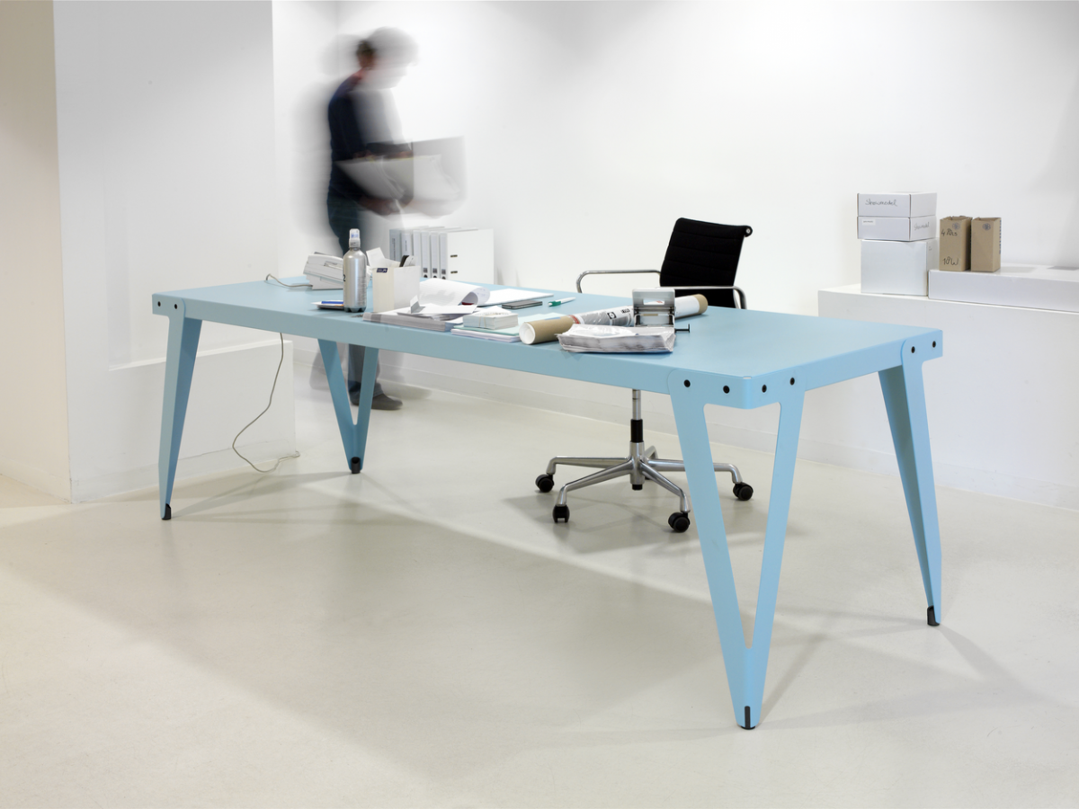 Functionals Lloyd Table 230×80 Light Blue Office Tafel Lichtblauw