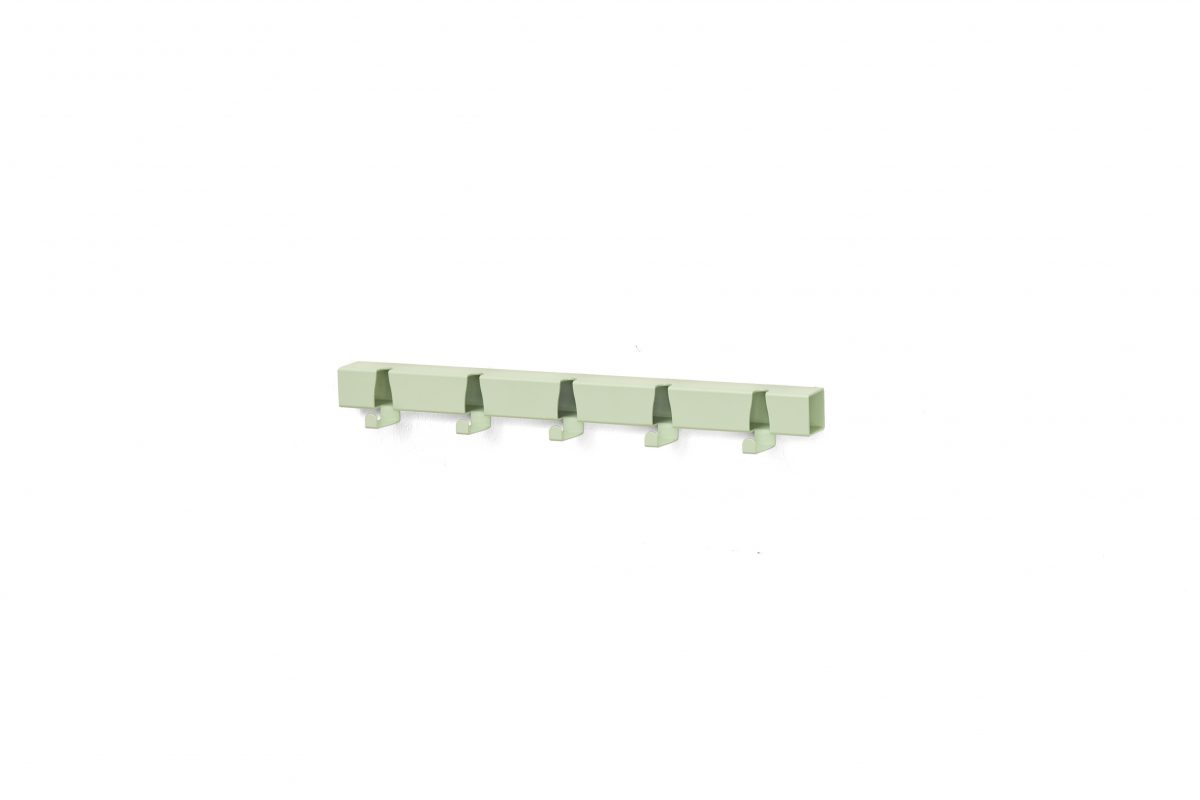 Kapstok Vij5 Coatrack By The Meter Green Groen 5 Hooks Wandhaken