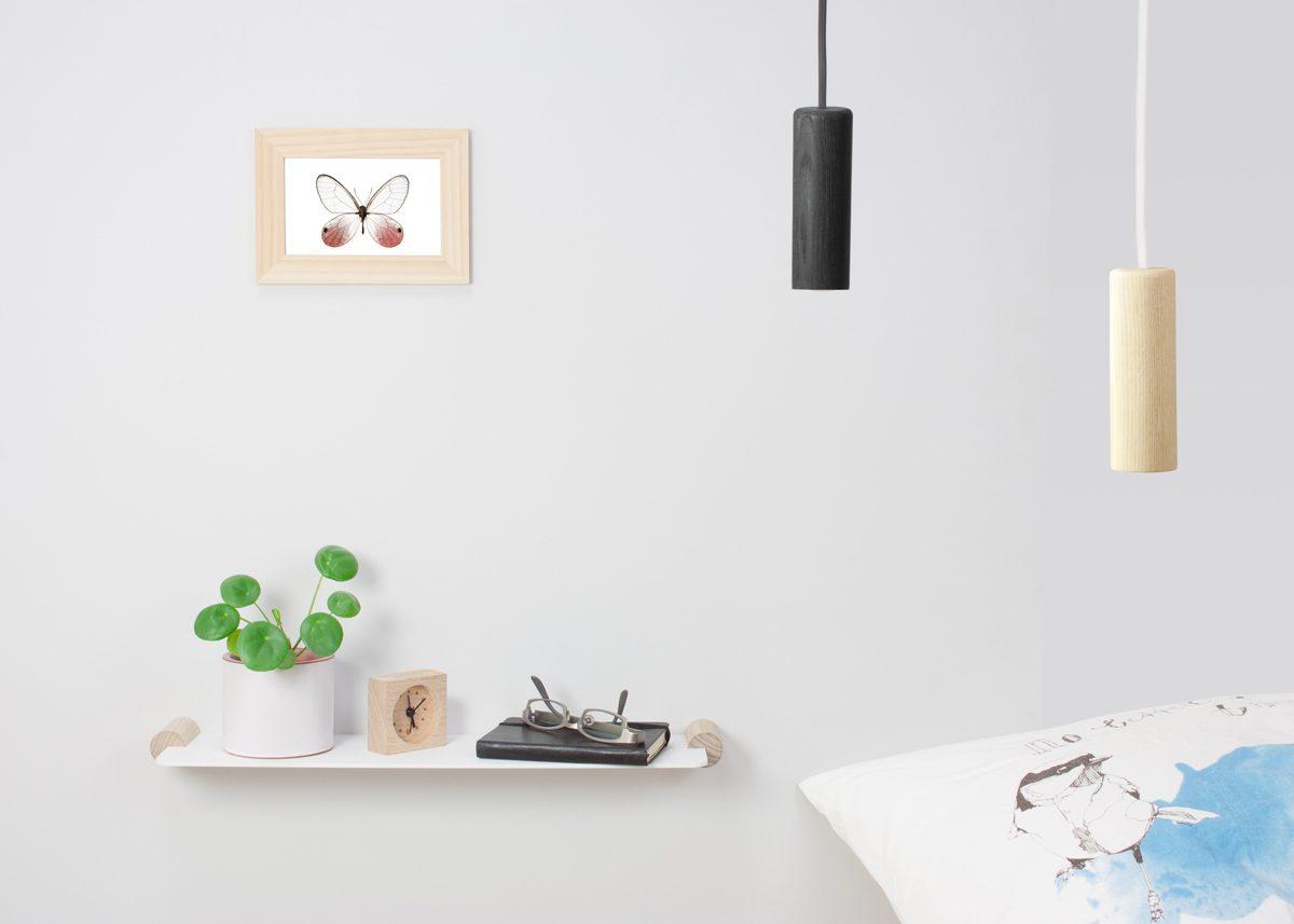 Stilst Slim Shelf Bedside Pendant Mini Black White Gimmii Dutchdesign Shop