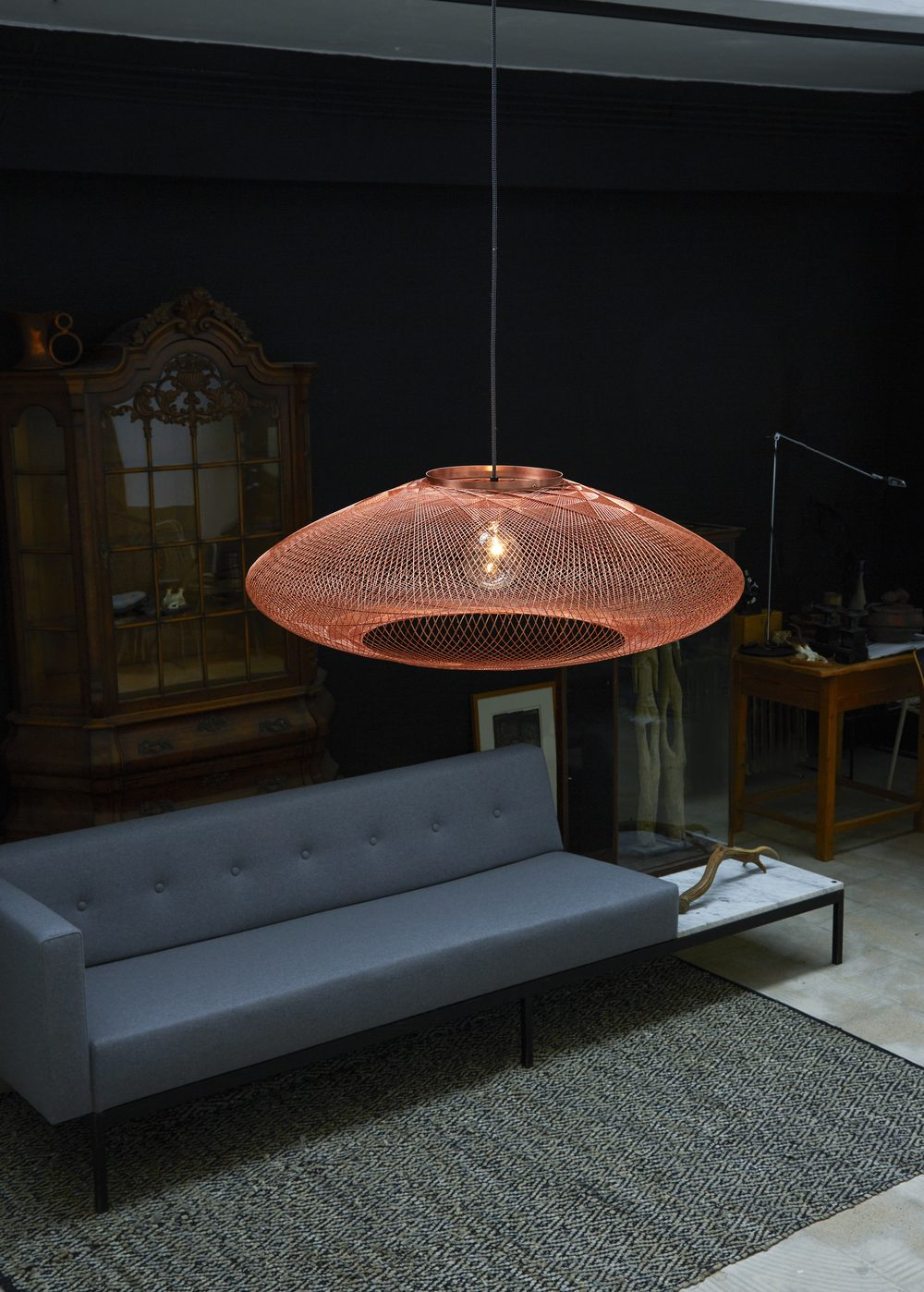 UFO Large Copper Pendant Atelier Robotique Interior Styling Gimmii
