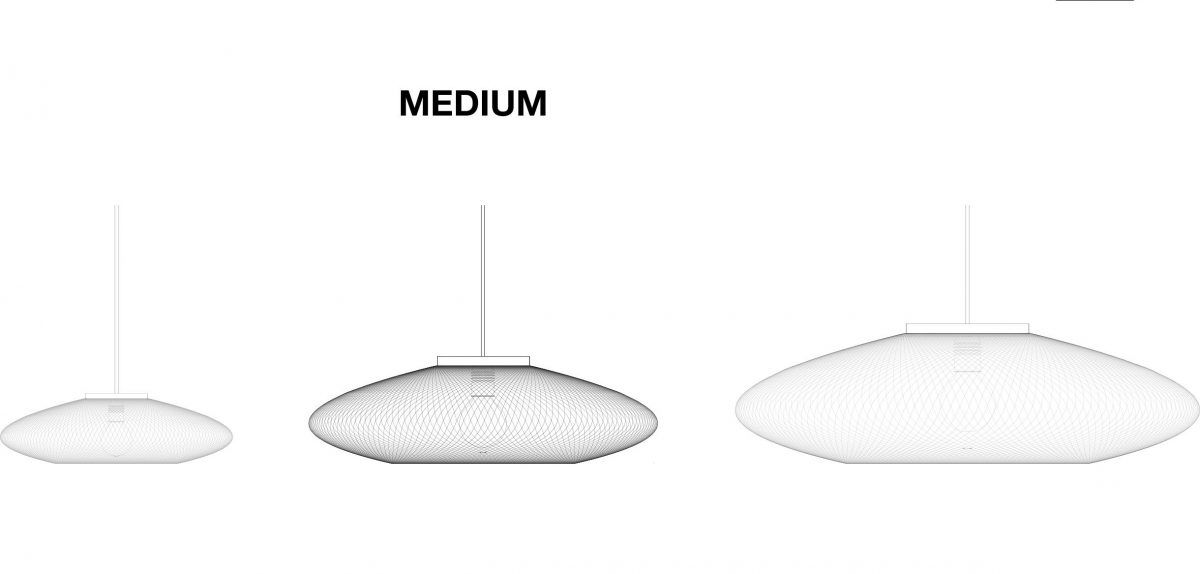 UFO Medium hanglamp van Atelier Robotiq