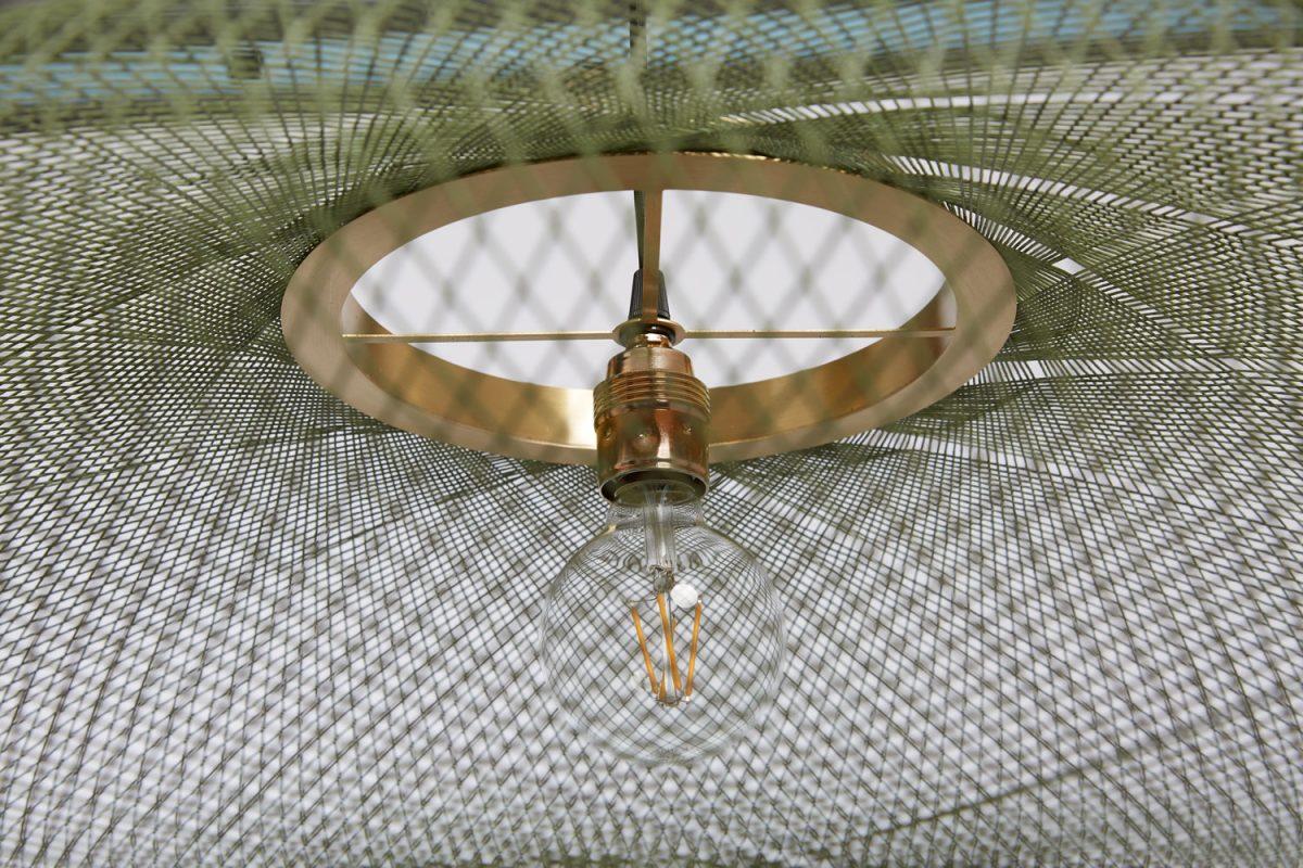 UFO Groen Moss Green Lamp Messing Houder
