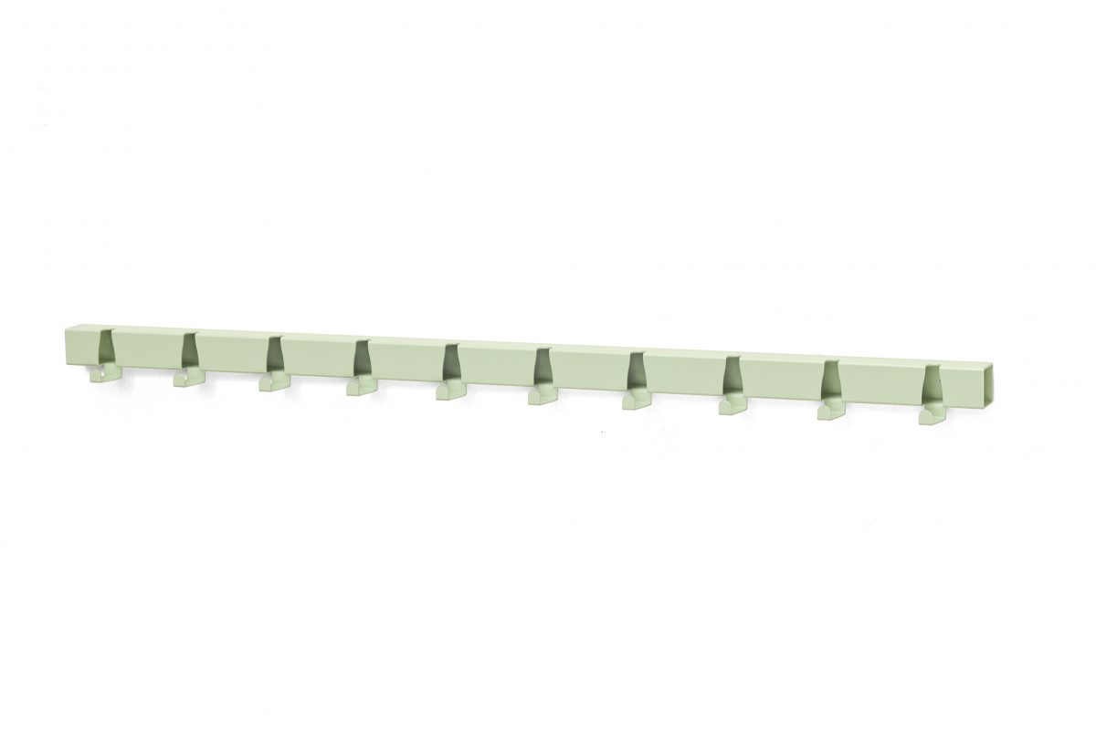 Vij5 Wandkapstok Coatrack By The Meter Green 10 Hooks Gimmii