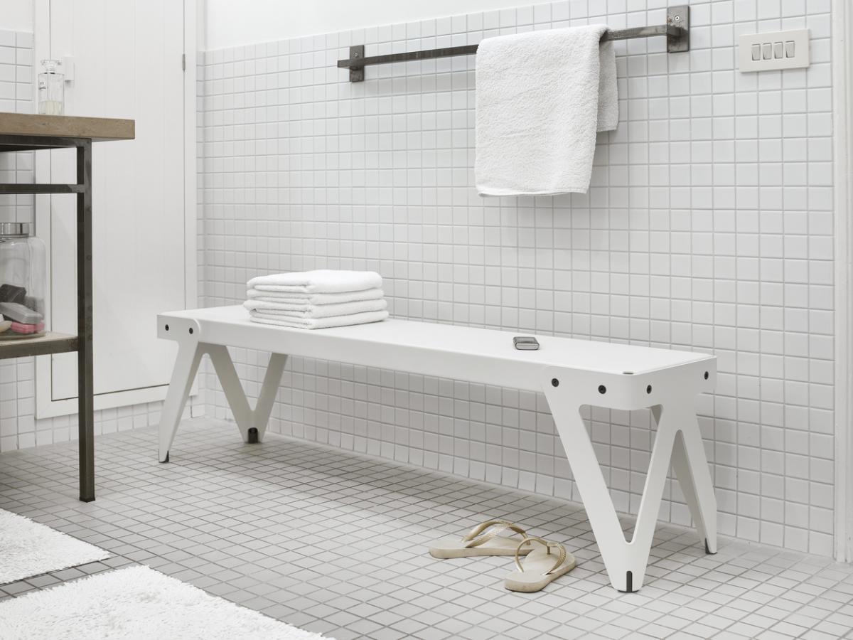 Funcitonals Lloyd Bench White Bathroom Bank Badkamer Wit Gimmii