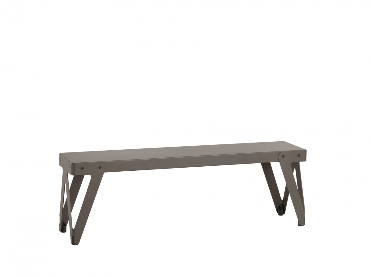 Lloyd Bench 140 Dark Grey Grijs Bank Luxe Staal