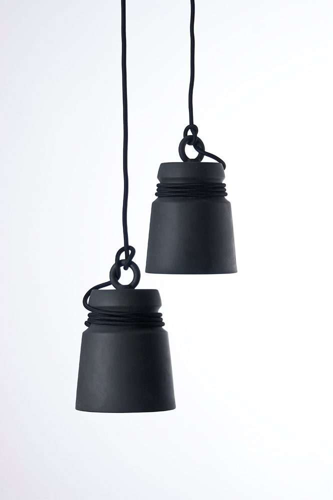 Patrick Hartog Design Cable Light Porcelain Black Gimmii Dutch Design