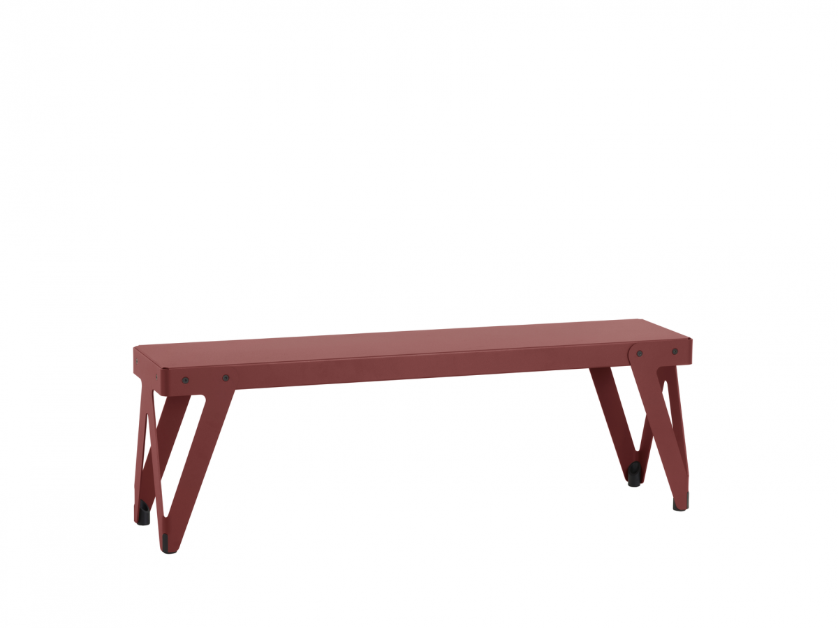 Functinals Lloyd Bench 140cm Rust Red Rood Bank Staal