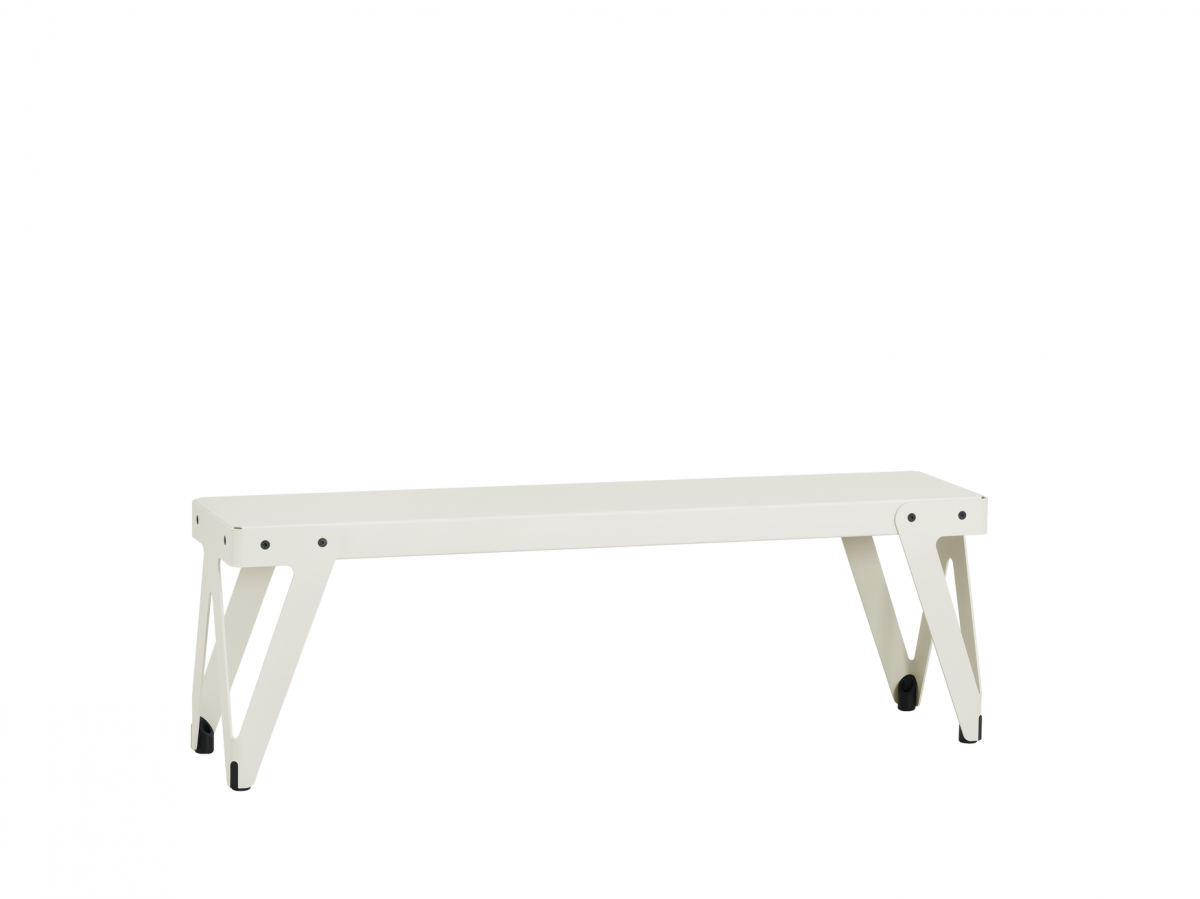 Functionals Lloyd Bench 140cm White Wit Bank Stevig Dutch Design Gimmii