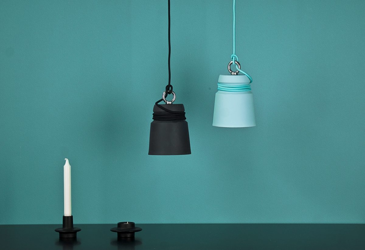 Patrick Hartog Blue Black Cable Light Pendant Small