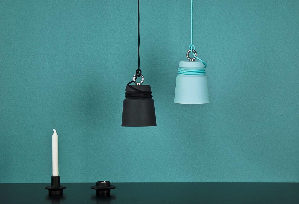 Patrick Hartog Blue Black Cable Light Pendant Small