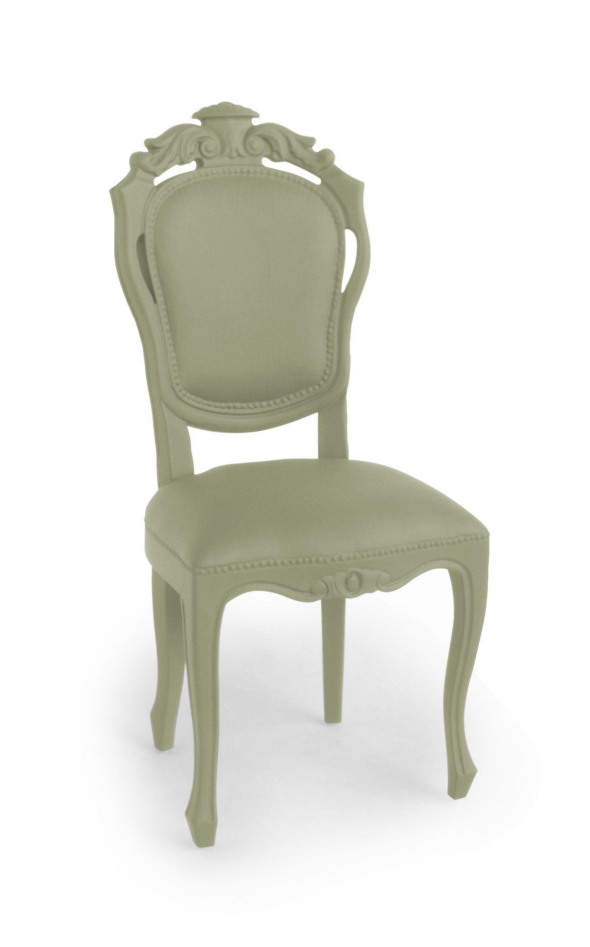 JSPR Plastic Fantastic Dining Chair Moss Exclusieve Eettafelstoel Mosgroen Rubber