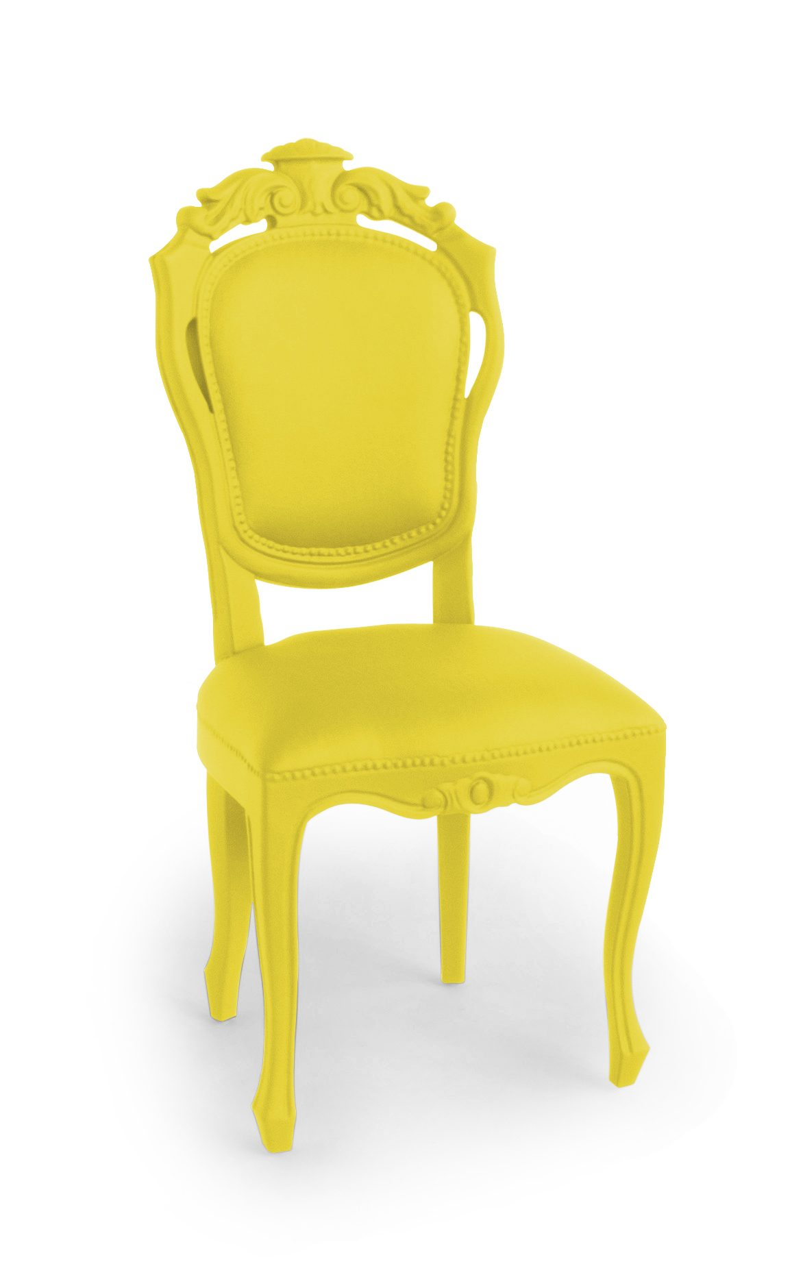 Plastic Fantastic Eettafelstoel Outdoor Indoor Dining Chair Banana Yellow Geel