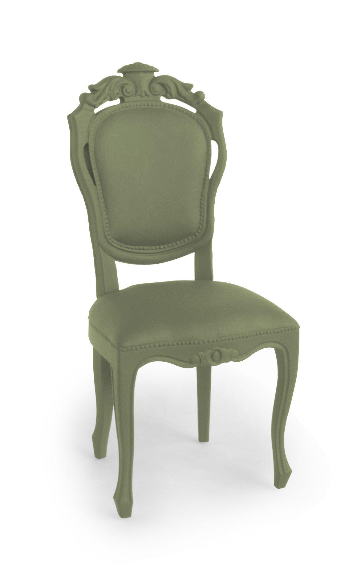 Exclusieve Eettafelstoel Dutch Design Jspr Plastic Fantastic Dining Chair Olive Olijf Groen