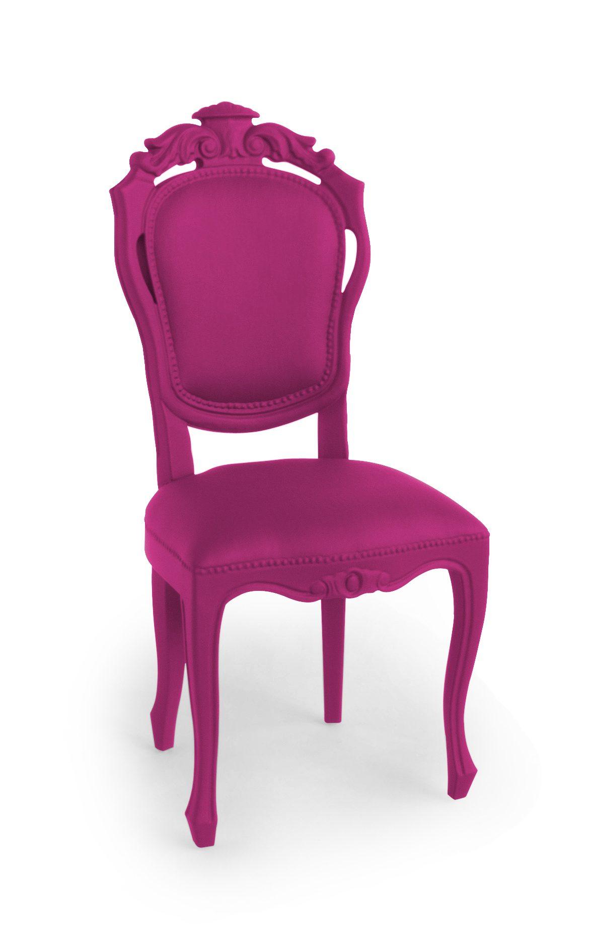 Jspr Plastic Fantastic Dining Chair Pink Roze Stoel Rubber