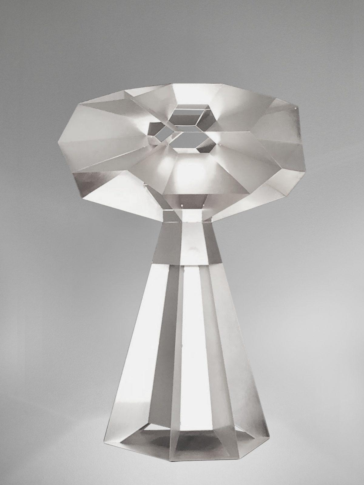 Marc De Groot FRACTAL Lamp Aluminium GRIJS