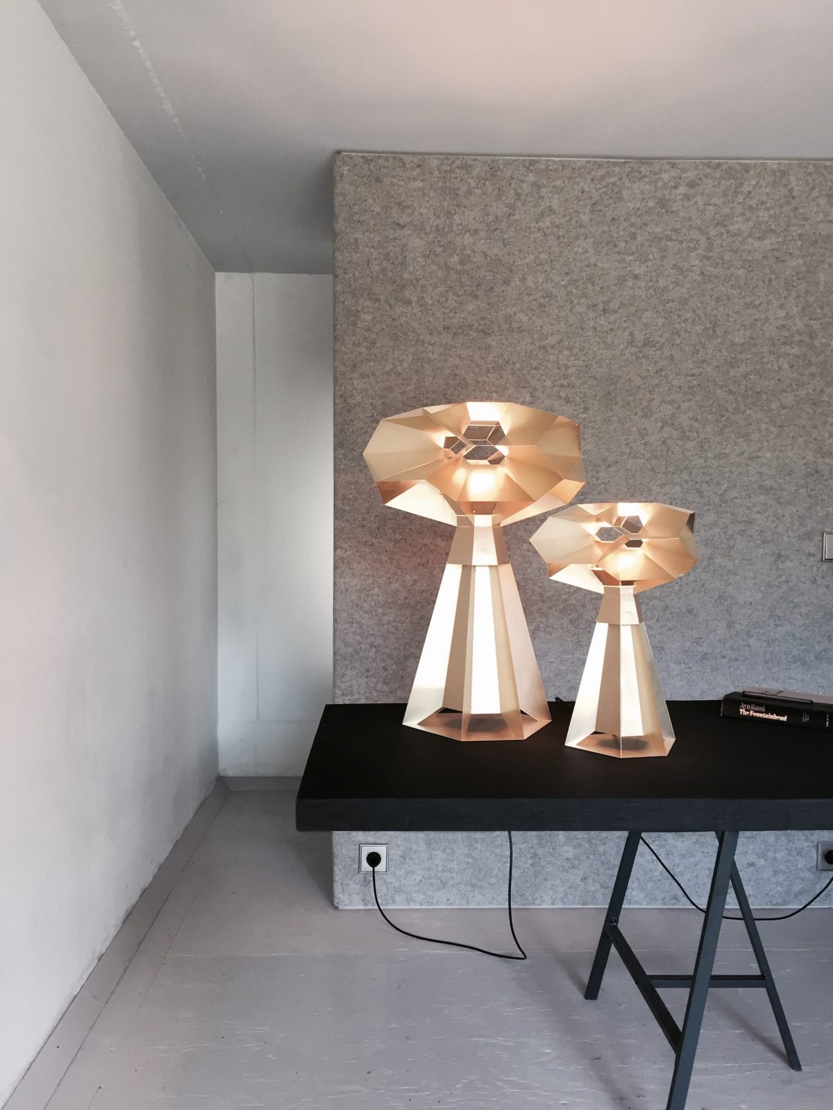 MarcdeGroot FRACTAL SFEER Tafellamp Messing Origineel Dutch Design