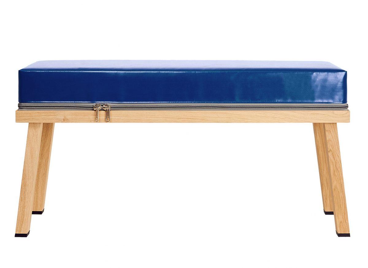 Visser&Meijwaard Truecolors Bench DarkBlue Bankje Donkerblauw Eiken Pvc