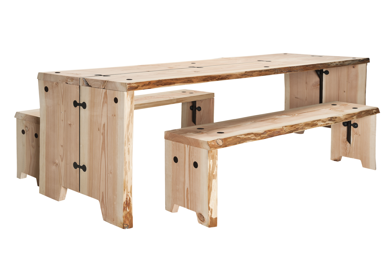 forestry table buitentafel gimmii dutch design. Black Bedroom Furniture Sets. Home Design Ideas