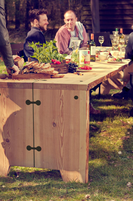Weltevree Forestry Tafel Bankje Set Tuintafel Familie Outdoor