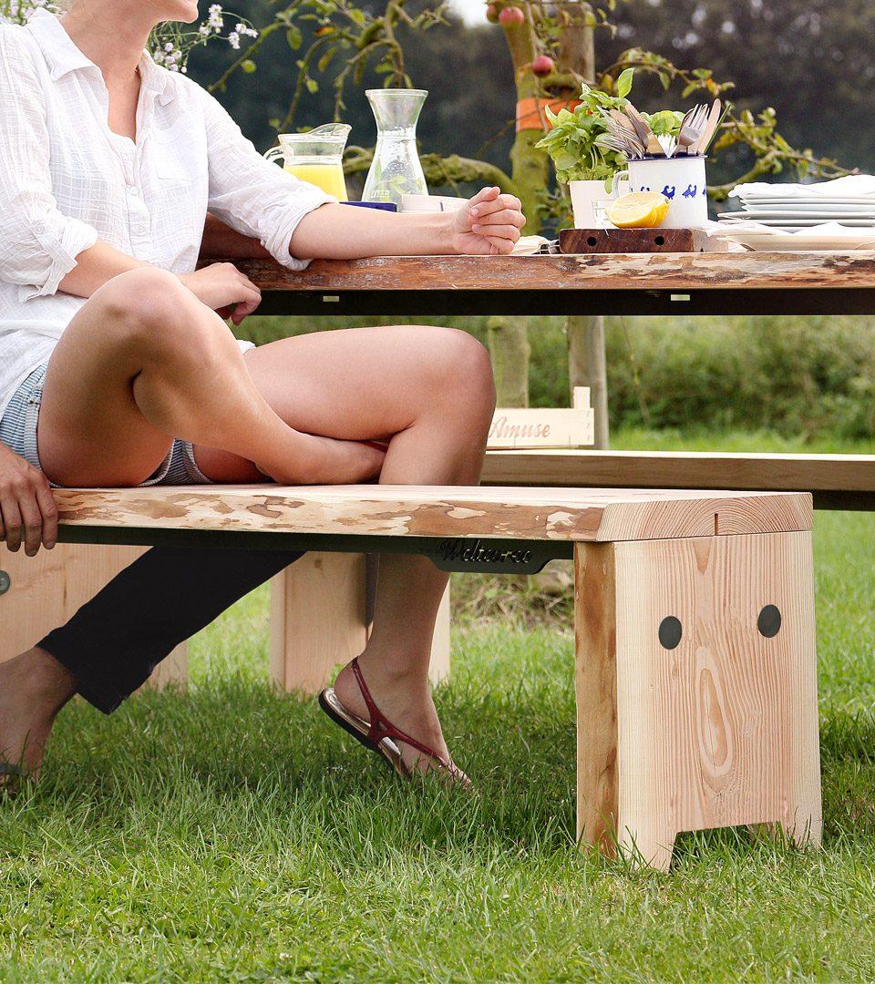 Weltevree Forestry Bench Natuurlijk Bankje Exclusief Dutch Design Webshop